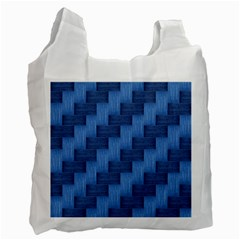 Blue pattern Recycle Bag (One Side)