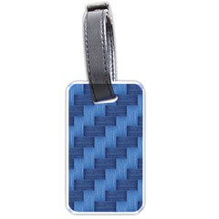 Blue pattern Luggage Tags (One Side)