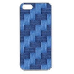 Blue pattern Apple Seamless iPhone 5 Case (Clear)