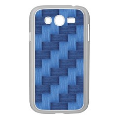 Blue pattern Samsung Galaxy Grand DUOS I9082 Case (White)