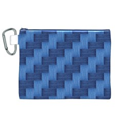 Blue pattern Canvas Cosmetic Bag (XL)