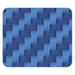 Blue pattern Double Sided Flano Blanket (Small)