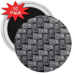 Gray pattern 3  Magnets (10 pack)