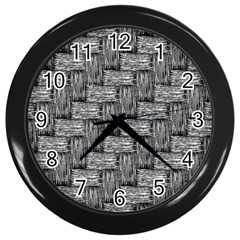 Gray pattern Wall Clocks (Black)