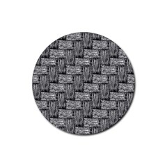 Gray pattern Rubber Round Coaster (4 pack)