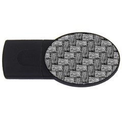 Gray pattern USB Flash Drive Oval (1 GB)