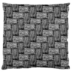 Gray pattern Large Cushion Case (One Side)