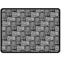 Gray pattern Double Sided Fleece Blanket (Large)