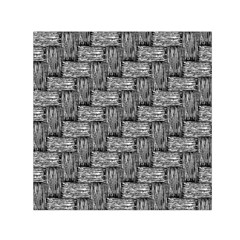 Gray pattern Small Satin Scarf (Square)