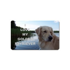 Golden Retriver Love W Pic Magnet (Name Card)