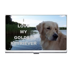Golden Retriver Love W Pic Business Card Holders
