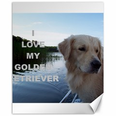 Golden Retriver Love W Pic Canvas 16  x 20