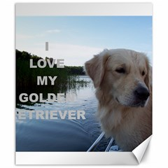 Golden Retriver Love W Pic Canvas 20  x 24