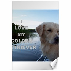 Golden Retriver Love W Pic Canvas 20  x 30