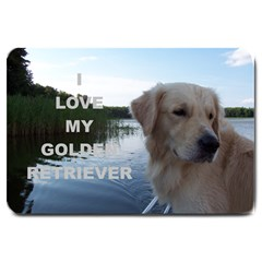Golden Retriver Love W Pic Large Doormat