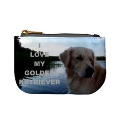Golden Retriver Love W Pic Mini Coin Purses