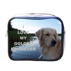 Golden Retriver Love W Pic Mini Toiletries Bags
