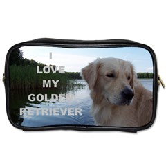 Golden Retriver Love W Pic Toiletries Bags