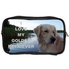 Golden Retriver Love W Pic Toiletries Bags 2-Side