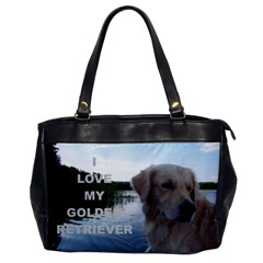 Golden Retriver Love W Pic Office Handbags