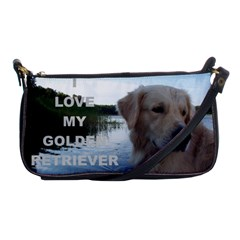 Golden Retriver Love W Pic Shoulder Clutch Bags
