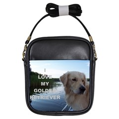Golden Retriver Love W Pic Girls Sling Bags