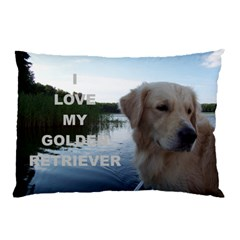 Golden Retriver Love W Pic Pillow Case (Two Sides)