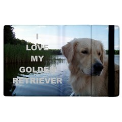 Golden Retriver Love W Pic Apple iPad 2 Flip Case