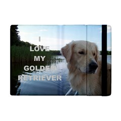Golden Retriver Love W Pic Apple iPad Mini Flip Case