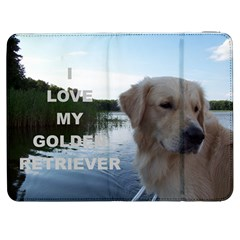 Golden Retriver Love W Pic Samsung Galaxy Tab 7  P1000 Flip Case