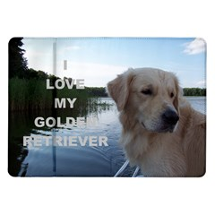 Golden Retriver Love W Pic Samsung Galaxy Tab 10.1  P7500 Flip Case