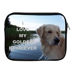 Golden Retriver Love W Pic Apple iPad 2/3/4 Zipper Cases