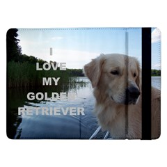 Golden Retriver Love W Pic Samsung Galaxy Tab Pro 12.2  Flip Case