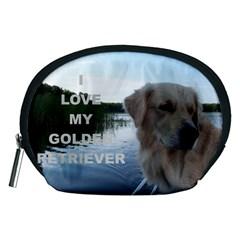 Golden Retriver Love W Pic Accessory Pouches (Medium)