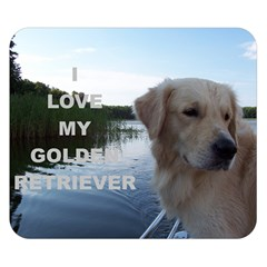 Golden Retriver Love W Pic Double Sided Flano Blanket (Small)