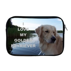 Golden Retriver Love W Pic Apple MacBook Pro 17  Zipper Case
