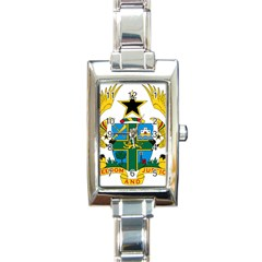 Coat of Arms of Ghana Rectangle Italian Charm Watch