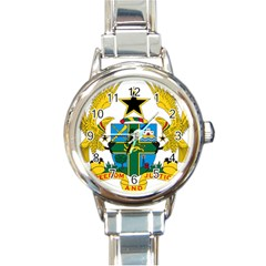 Coat of Arms of Ghana Round Italian Charm Watch