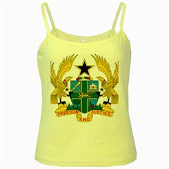 Coat of Arms of Ghana Yellow Spaghetti Tank