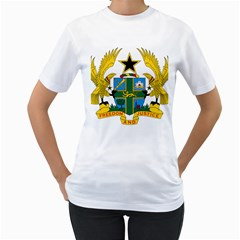 Coat of Arms of Ghana Women s T-Shirt (White) (Two Sided)