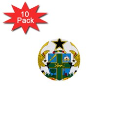 Coat of Arms of Ghana 1  Mini Buttons (10 pack)