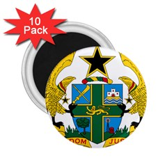 Coat of Arms of Ghana 2.25  Magnets (10 pack)