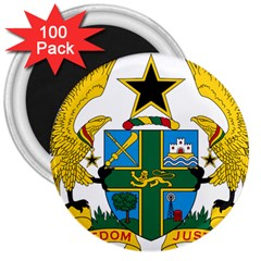 Coat of Arms of Ghana 3  Magnets (100 pack)