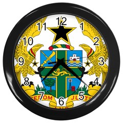 Coat of Arms of Ghana Wall Clocks (Black)