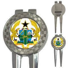 Coat of Arms of Ghana 3-in-1 Golf Divots