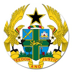 Coat of Arms of Ghana Magnet 5  (Round)
