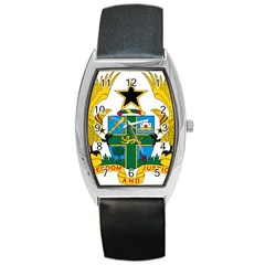 Coat of Arms of Ghana Barrel Style Metal Watch