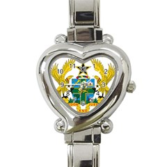 Coat of Arms of Ghana Heart Italian Charm Watch