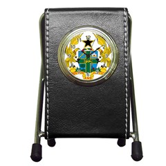 Coat of Arms of Ghana Pen Holder Desk Clocks