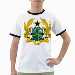 Coat of Arms of Ghana Ringer T-Shirts